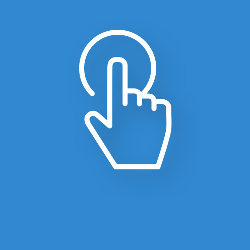 Finger auf Touchpoint Icon